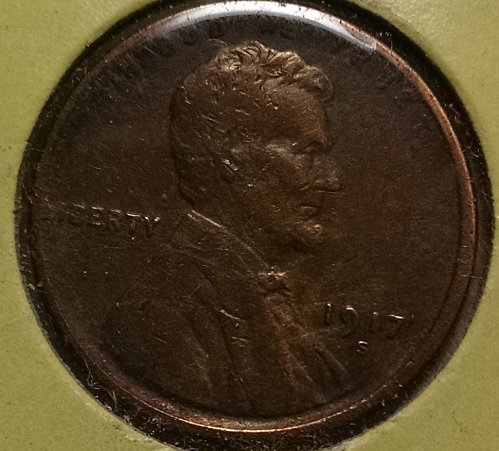 1917 S Lincoln Wheat Cent Small Cent