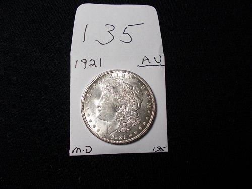 1921     D  MORGAN 90% SILVER  A / U   +++++    # 135
