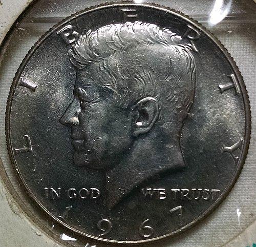 1967 P Uncirculated Kennedy Half Dollars
