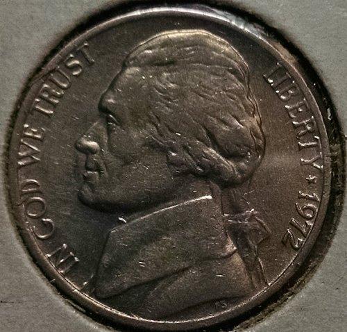 1972 P Jefferson Nickel