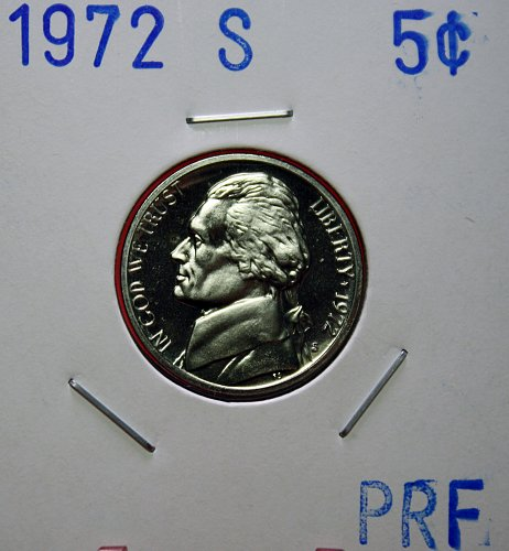 1972 S Jefferson Nickel ***Proof***