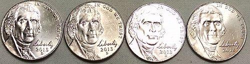 2013 D Jefferson Nickels Return to Monticello Series