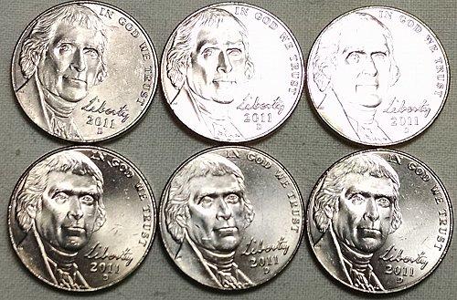 2011 D Jefferson Nickels