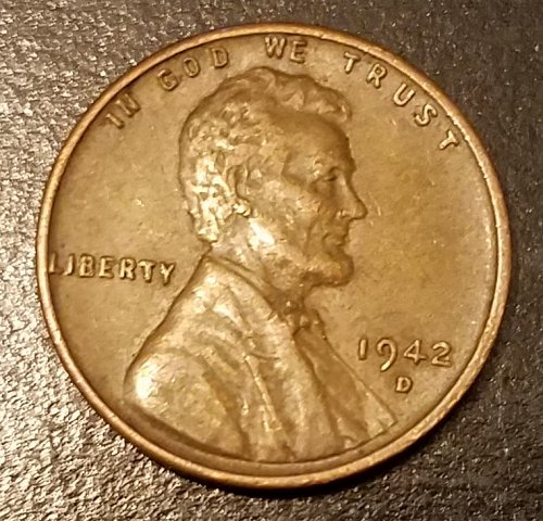 1942-D Lincoln Wheat Cent (7620)