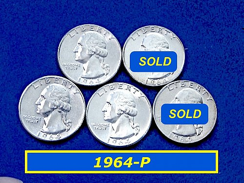 1964-P   'BU' Quarter  ☆ BRILLIANT UNCIRCULATED ☆ (#2552)a