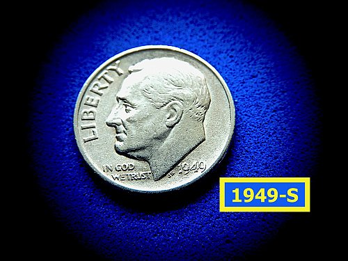 1949-S Roosevelt Dimes  ✬  XF-45  Condition   ✬   (#3755)a