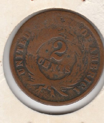 1864 P Two Cents: Large Motto