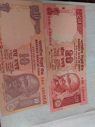 india UNC Tripal No. pair..686868