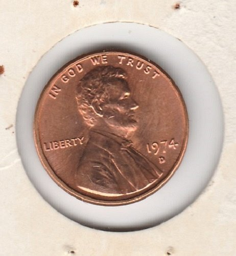 1974 D Lincoln Memorial Cent Small Cents -7