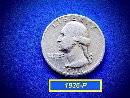 """1936-P Washington Quarter  ☆  """"VF-25""""  ☆  (#2851)a"""