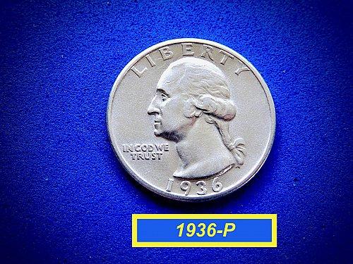 "1936-P Washington Quarter  ☆  ""XF-45""  ☆  (#2851)a"