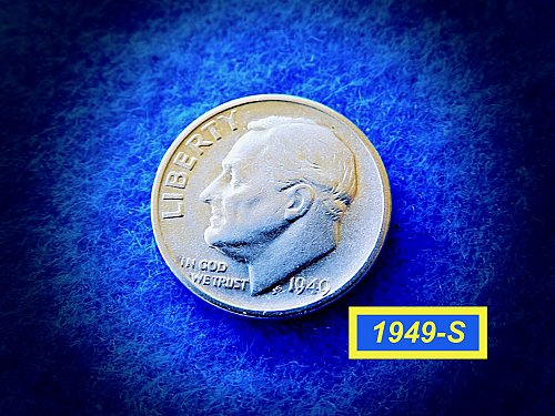 "1949-S Roosevelt Dimes  ☆ ☆  ""VF-35"" Condition   ☆ ☆ (#3766)a"