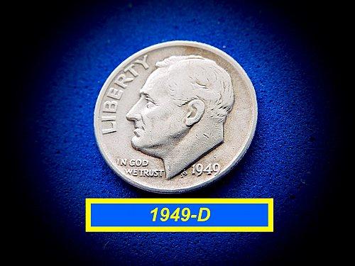 1949-D  Roosevelt  ☆ Circulated   ☆ (#3761)a