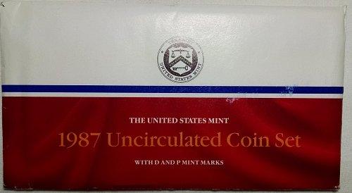 1987 PD Uncirculated Mint Sets