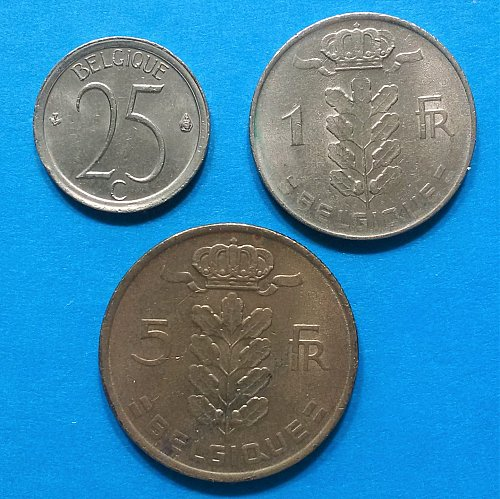 Belgium 1975 = 5 and 1 Franc and 25 Centimes (Belgique)
