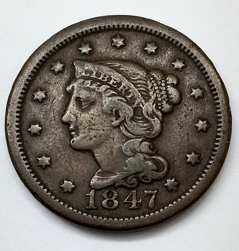 1847 Large Cent - Normal Date
