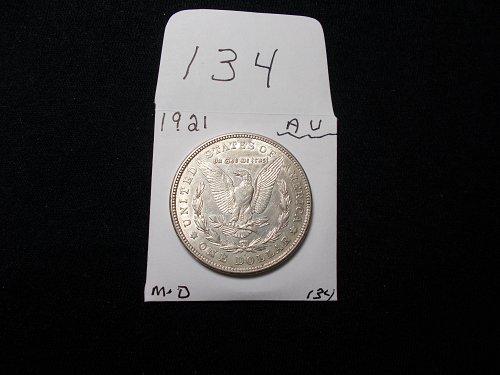 1921     D  MORGAN 90% SILVER  A / U   +++++    # 134