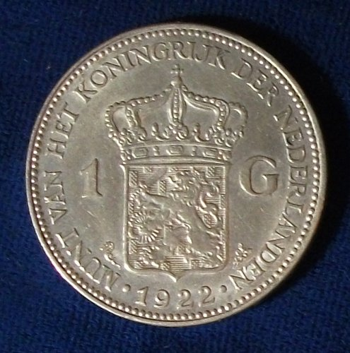 1922 Netherlands Gulden XF