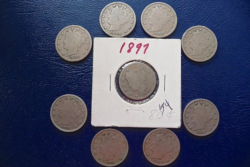 9  Liberty head nickels