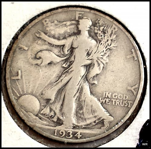 1934-S Walking Liberty Half Dollar: