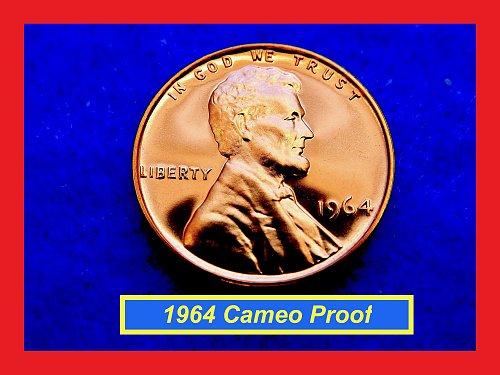 1964 CAMEO PROOF Penny ✬✬✬ High Grade GEM Proof  (#7200.2)b