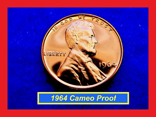 1964  PROOF Penny ✬✬✬ High Grade GEM Proof  (#7209.2)b