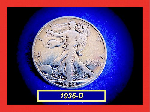 1936-D  Liberty Walking Half  ☆ ☆ ☆  (#1734)a
