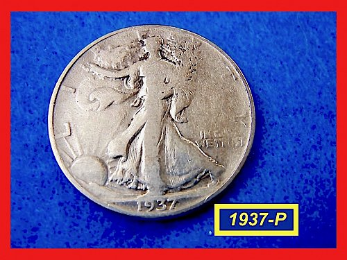 1937-P  Liberty Walking Half  ☆ ☆ ☆  (#1681)a