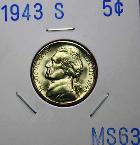 1943 S Jefferson Nickel