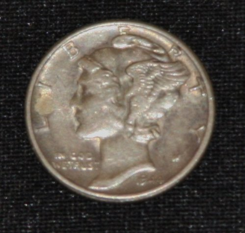 COLLECTIBLE *SILVER* 1944 MERCURY DIME...F-VF....10C...