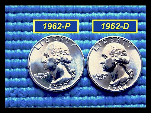 "YEAR SET ☆1962-P and D Quarters ☆ ""MS-63"" or Higher ☆ (#2786)a"