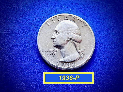 1936-P ☆ Circulated Quarter [F-20] ☆  (#2856)a