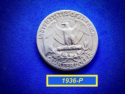1936-P ☆ Circulated Quarter [F-20] ☆ (#2856)a