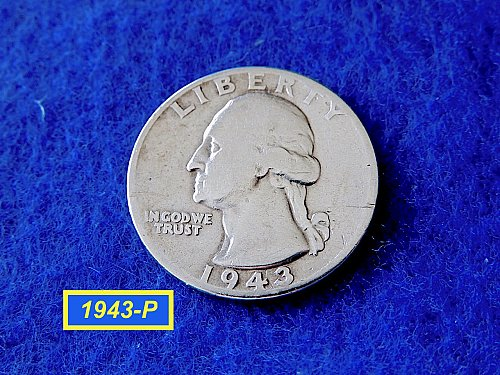 "1943-P Washington Quarter ☆  ""CIRCULATED""   ☆  (#2842)a"