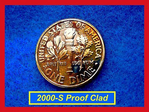 2000-S  PROOF Dime  ☆ Great Toning   ☆ (#3405)a
