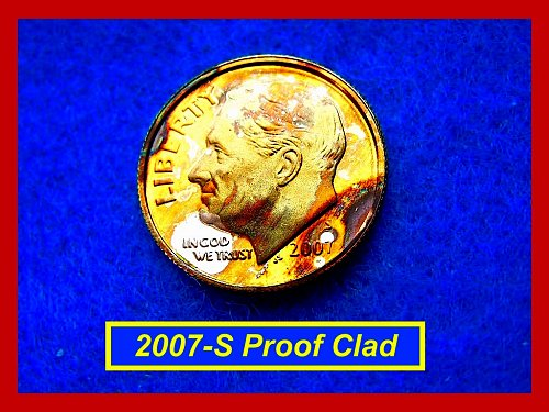 2007-S  PROOF Dime  ☆ Great Toning   ☆ (#3402)a