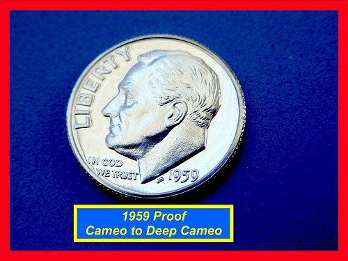 1959 PROOF Roosevelt Dime  ☆ Deep Mirrors ✬   (#3740)a