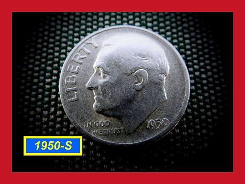 """1950-S   Silver Dime ✬ """"VG""""   ✬  (#3675a)a"""