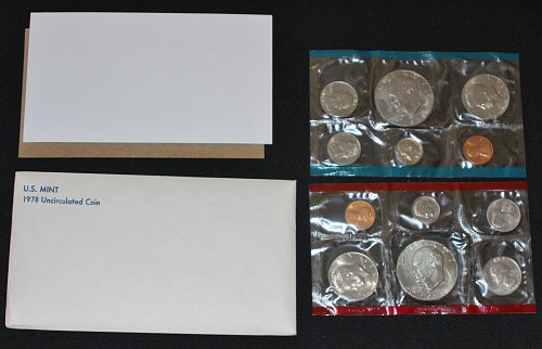 COLLECTIBLE 1978-P&D U.S. UN-CIRCULATED MINT 12 COIN SET....