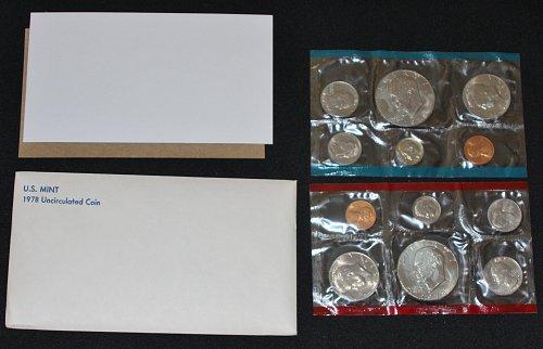 COLLECTIBLE 1978-P&D U.S. UN-CIRCULATED MINT 12 COIN SET....