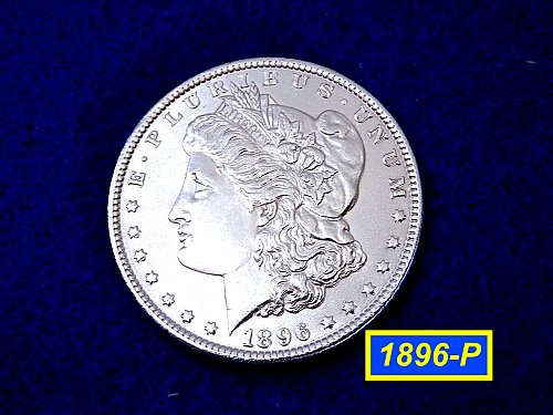 "1896-P Morgan Silver Dollar ☆ ☆ ""MS-60   ☆ ☆  (#5420)a"