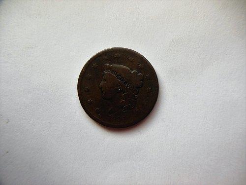 1837 Coronet Liberty Head Large Cent