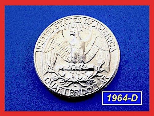 """1964-D Washington ☆ GEM """"BU"""" AT LEAST 'MS-65' ☆ (##2741)a"""