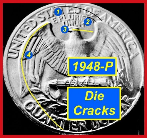"HIGH-GRADE 1948-P  ""Brilliant Uncirculated""  Quarter    (#2836)a"