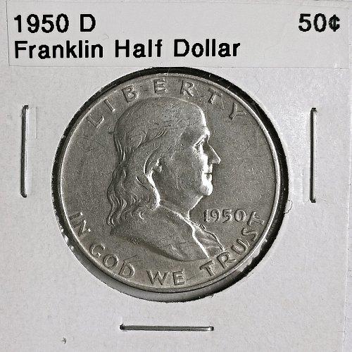 1950 D Franklin Half Dollar - 6 Photos!
