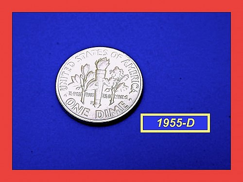 1955-D Roosevelt Dime ✬  Silver ☆ Brilliant Uncirculated ✬   (#3614.d)a