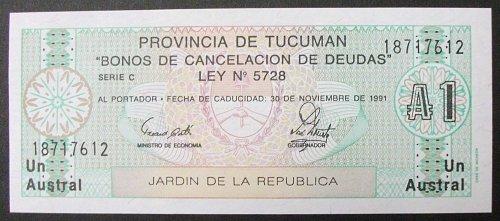 Province of Tucuman 1 Australe UNC65