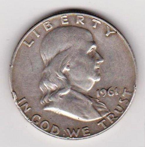 1961-D Franklin Silver Half Dollar.