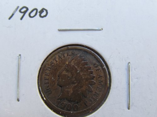 cull 1900 Indian Head Cent(solder Reverse).Good Details