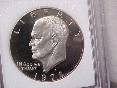 1978-S Eisenhower $1 INB DCam Gem Proof